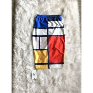 Fanii Quare Color Block Elastic Pencil Skirt Sz S